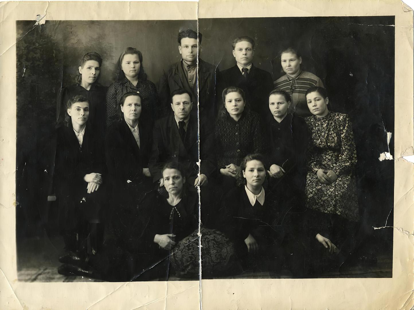 Коллектив цеха №1 фабрики «Маяк». 1943 г.